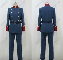 Anime ALDNOAH ZERO Syn Troyet uniforme militar Slain Trojad Cosplay personalizado(China (Mainland))