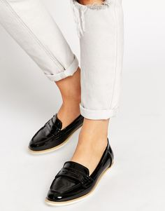 ALDO Raineri Black Patent Flat Shoes [449,-]