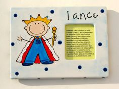 personalized hand painted ceramic little prince photo frame by suzaluna