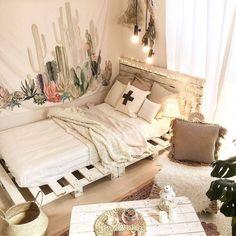 230 mejores imágenes de Camas de palets | Furniture, Attic ...