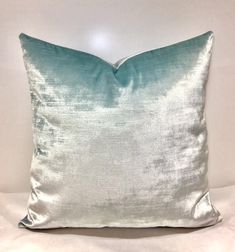 Your place to buy and sell all things handmade Green Velvet Pillow, Orange Pillows, Blue Cushions, Blue Throw Pillows, Velvet Cushions, White Pillows, Blue Velvet, Pillos, Silver Pillows