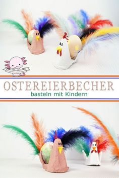 Eierbecher basteln zu Ostern – Basteln mit Kindern Make eggcups for Easter from egg carton. For the Easter breakfast in the kindergarten and at home. Crafts with children and toddlers. Easter Gift, Easter Crafts, Happy Easter, Diy And Crafts, Crafts For Kids, Children Crafts, Organized Mom, Egg Cups, Handicraft