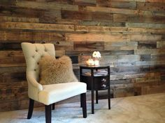 Reclaimed Wood Wall. By Robeson Design.