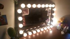 https://flic.kr/p/FTfgfj | Paul's Lighted Vanity Mirror With Dimmer Switch | Mirror By: WoodUBeMine Mirror Shop  Thank you for sharing with us! :) Looks Great!!!