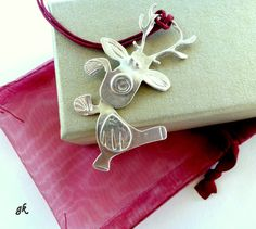 Christmas in July Reindeer sterling silver by GeorgiaCollection, €35.00
