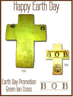 Earth Day crosses on sale today.  Part of the proceeds go to the Ian Somerhalder Foundation