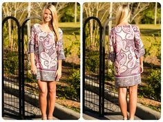 "From Sunday morning at church to a night out on the town, you're sure to turn heads in our ""Paisley Dress""."