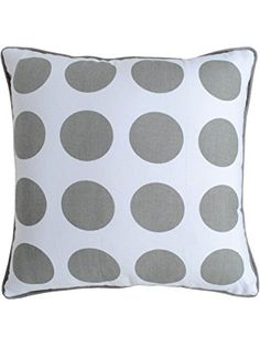 Throw Pillow Cover Pc) for Sofa Couch 16 X 16 Inches Bold Polka Dot Design Printed in Grey on White Cotton Fabric Soft Luxurious Cushion Covers Collection by Value Homezz ❤ Value Homezz Cushion Covers, Throw Pillow Covers, Throw Pillows, Polka Dot Print, Polka Dots, Sofa, Couch, Home Gifts, Soft Fabrics