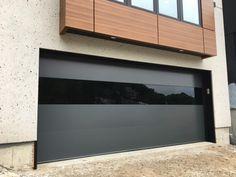 Modern Garage Doors Installation in Richmond Hill Contemporary Garage Doors, Modern Garage Doors, Garage Door Styles, Garage Door Design, Modern Door, Black Garage Doors, Double Garage Door, Glass Garage Door, Garages