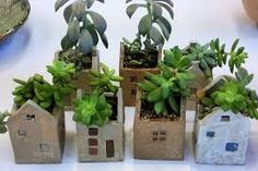 Succulent Planted House Pots: Related Post It's the season for lilacs at Aiken House and . Make Your Own Rope-Wrapped Pots – 110 DIY Ba. Garden buddy made from clay pots Clay Houses, Ceramic Houses, Ceramic Planters, Ceramic Clay, Ceramic Pottery, Clay Projects, Clay Crafts, Diy And Crafts, Pottery Houses
