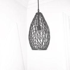 Vintage Pendant Light repurposed with cool old metal basket #pendantlight #repurposelights #lightingdesign #lights #beachshack  #surfshop #vintage #coastal #vintagelights
