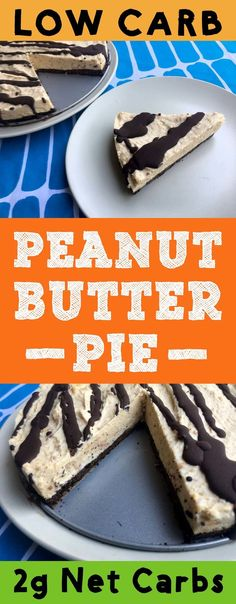 """""""Hey! You got your chocolate in my peanut butter! You got your peanut butter on my chocolate!"""" This low carb peanut butter pie has two great tastes that taste great together. This dessert is Low Carb, Keto, Atkins, Banting, THM-S, LCHF, Gluten Free, Grain Free and Sugar Free compliant. #resolutioneats #lowcarb #keto #peanutbutter #pie #chocolate"""