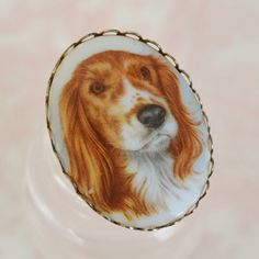 Vintage Dog Cameo Brooch. Fuck yes.