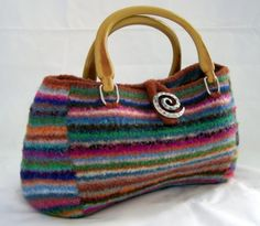 Knitting PATTERN  Felted Doctor  Bag Purse Satchel      (PDF - digital delivery Only) on Etsy, $5.00