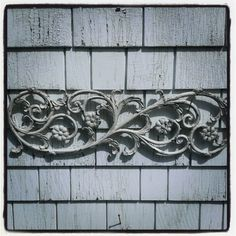 Antique Cast Metal Flower and Curlicue Panel by OldHouseChic, $35.00