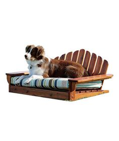 I am pretty sure Dave won't let me get this, but SO ADORABLE!! <3 Adirondack Doggie Bed <3