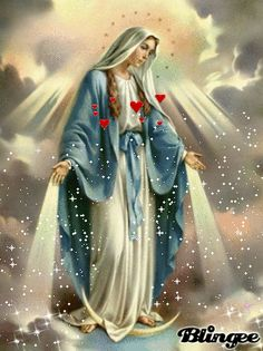 The perfect Virgen Angel Mary Animated GIF for your conversation. Discover and Share the best GIFs on Tenor. Mother Mary Images, Images Of Mary, Pictures Of Jesus Christ, Religious Pictures, Blessed Mother Mary, Blessed Virgin Mary, Catholic Art, Religious Art, Christ Tattoo