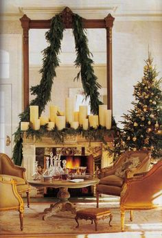 Things That Inspire: Merry Christmas! A few of my favorite holiday images. Christmas Mantels, Noel Christmas, Merry Little Christmas, All Things Christmas, Winter Christmas, Christmas Crafts, Christmas Decorations, Holiday Decor, Christmas Fireplace