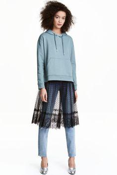 Кружевная юбка до колена Модель
