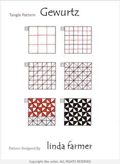 How to draw GEWURTZ by Linda Farmer « TanglePatterns.com