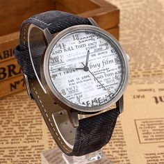 Estilo Vintage recién llegado mujeres hombres Casual reloj patrón periódico reloj Casual para mujeres y hombres Relojes Relojes Feminino envío gratis en Relojes para enamorados de Relojes en AliExpress.com | Alibaba Group