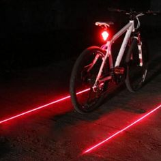 Bicycle LED Tail Light Safety Warning Light 5 LED  2 Laser Red Night Mountain Bike Rear Light Lamp Bycicle Light EA14