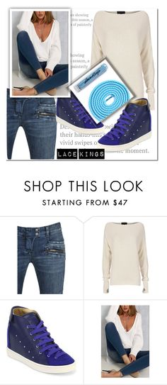 """""""Lace Kings 4"""" by ramiza-rotic ❤ liked on Polyvore featuring Balmain, Exclusive for Intermix and Giuseppe Zanotti"""