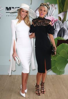 Jennifer Hawkins and Kate Peck Dresses For The Races, Dresses Near Me, Girls Dresses, Horse Race Outfit, Races Outfit, Kentucky Derby Fashion, Kentucky Derby Outfit, Race Day Outfits, Derby Outfits