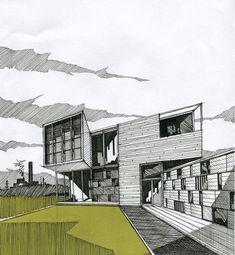 Illustration | Pen and Marker Sketch #Architecturesketch
