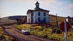 Potter School House, Bodega Bay, California.