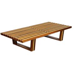 Wooden Slat Bench