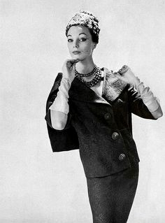 Ivy Nicholson wearing Jacques Heim, 1959. Photograph by Guy Arsac.