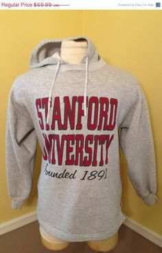 SALE 20% OFF Vintage Stanford University 1990's Sweatshirt, Gray Shirt, College Sweatshirt, University Clothing (Large) by NJVintage on Etsy https://www.etsy.com/listing/209472435/sale-20-off-vintage-stanford-university
