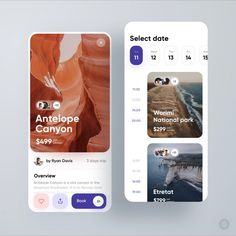 Worldwide Excursions Application by Konstantin Zhuck for Ron Design on Dribbble Ui Design Mobile, App Ui Design, Interface Design, User Interface, Android App Design, Dashboard Design, App Design Inspiration, Daily Inspiration, Identity