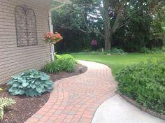 brick paver walkway pics side brick house   ... brick pavers which ...