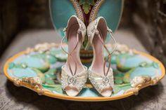 Embellished Bridal Shoes | onefabday.com