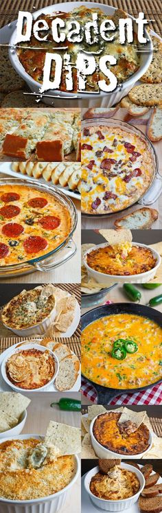 19 Decadent Dips. Some of the best dip recipes out there #recipe #dip Appetizers For Party, Easy Thanksgiving Appetizers, Thanksgiving Ideas, Yummy Appetizers, Appetizer Dips, Appetizer Recipes, Snack Recipes, Football Food, Football Parties
