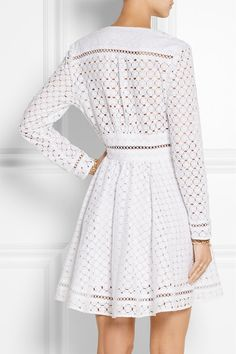 White broderie anglaise cotton Concealed zip fastening along side cotton Hand wash White Eyelet Dress, Lace Dress, White Lace, Chan Luu, Fashion 2017, Fashion Outfits, Plus Sise, Short Dresses, Summer Dresses