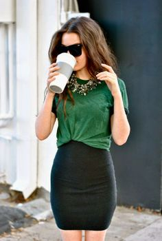I really like the green and black together, the loose and tight fit together