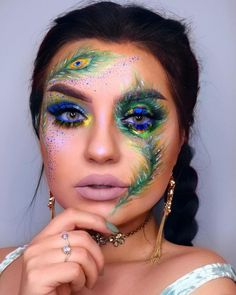 Last Minute Pretty Halloween Makeup IdeasYou can find Crazy makeup and more on our website.Last Minute Pretty Halloween Makeup Ideas Makeup Eye Looks, Eye Makeup Art, Crazy Makeup, Cute Makeup, Pretty Makeup, Fairy Makeup, Mermaid Makeup, Makeup Geek, Makeup Eyeshadow