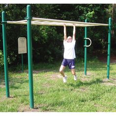 Southern Recreation offers interactive outdoor fitness equipment, perfect for any park or amenity center. Outdoor Gym, Outdoor Workouts, Outdoor Fitness Equipment, No Equipment Workout, Jacksonville Florida, Ladder, Exercise, Park, Southern