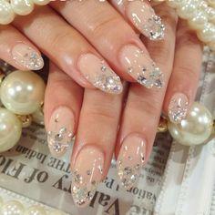Wedding Nails-A Guide To The Perfect Manicure – NaiLovely Bridal Nails Designs, Bridal Nail Art, Nail Art Designs, Pedicures, Asia Nails, Japan Nail, Korean Nail Art, Glamour Nails, Vacation Nails
