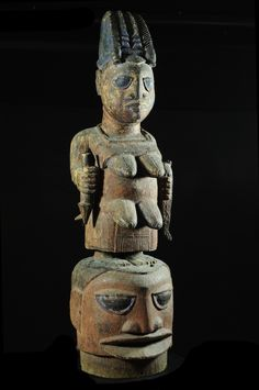 Epa máscara de maternidad - Yoruba - Benin - Gabriel Massa Colección