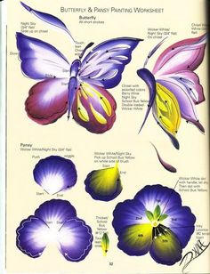 Butterfly and Pansy Worksheet