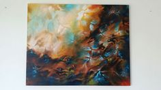 Abstract painting acrylic by Sabrina Tanase Www. Abstract Art, Walls, Painting, Wands, Painting Art, Wall, Paintings, Drawings