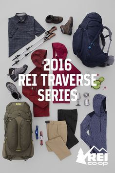 A backpacking series built for the journey. Influenced by REI members, experts who work in our stores, and a wilderness spirit born in 1938. A series made to work together. Shop Traverse now.