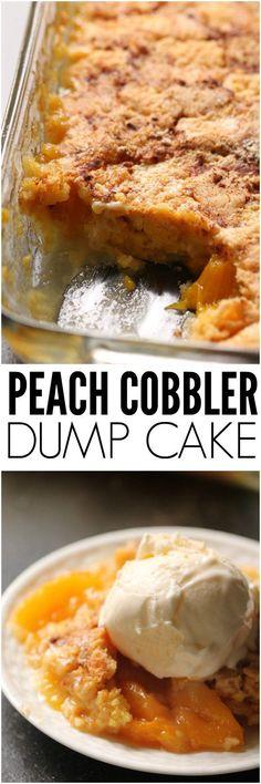 Peach Cobbler Dump Cake Recipe | Six Sisters' Stuff
