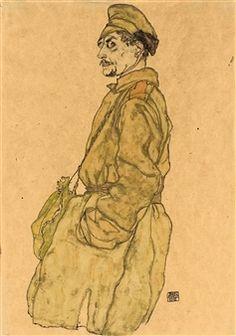 KRIEGSGEFANGENER RUSSE (RUSSIAN PRISONER OF WAR) By Egon Schiele