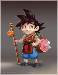 Young Goku by ReevolveR.deviantart.com on @deviantART #dbz
