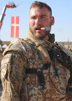 Woof! Military, Muscle Bear, sexy chomping on a cigar. He is one Sexy Man.
